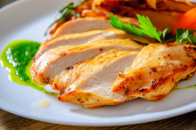 Grilled Chicken Breast With Po...