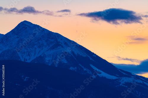 Emigrant Peak Winter Sunset