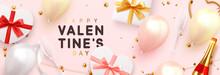 Valentines Day Banner. Backgro...