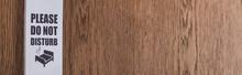 Wooden Hotel Room Door With Pl...