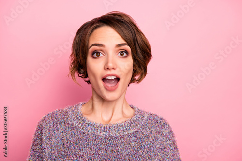 Close-up portrait of her she nice-looking attractive lovable lovely pretty charm Wallpaper Mural