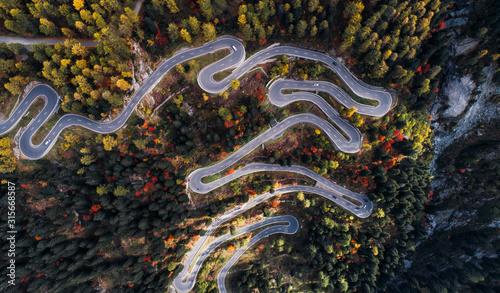 Fotomural Maloja pass road