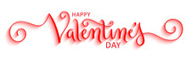 HAPPY VALENTINE'S DAY Red Vect...