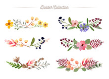 Floral Divider Watercolor Coll...