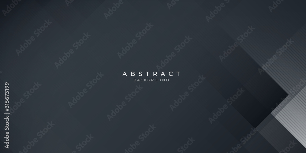 Fototapeta  Dark black neutral abstract background for presentation design