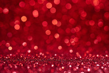 Red Blurred Abstract Shiny Val...