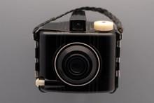 A Small, Vintage Kodiak Brownie Camera Isolated.