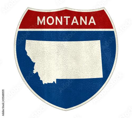 Fototapeta Montana State Interstate road sign obraz