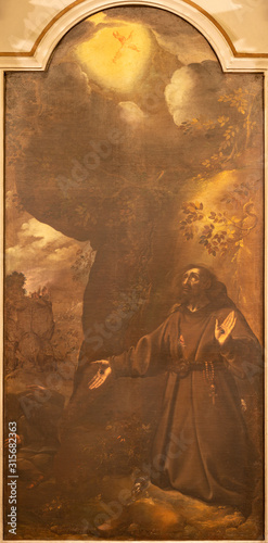 Photo COMO, ITALY - MAY 11, 2015: The painting of Stigmatization of St