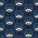 Art deco seamless pattern design with art noveau elements - 315683337