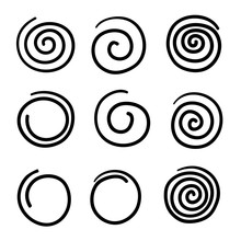 Collection Of Doodle Spiral Il...