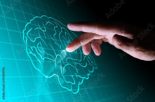 mano, dito, tablet, informatica Canvas-taulu