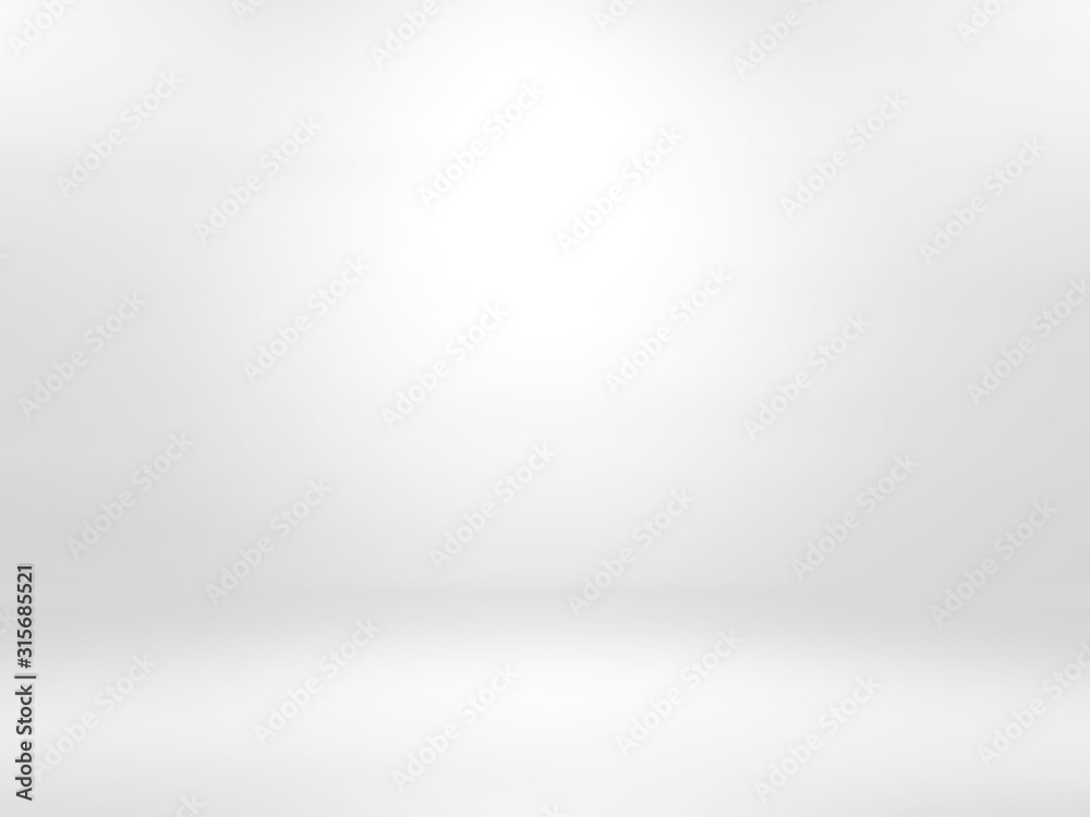 Fototapeta Gray white gradient empty studio room backdrop wallpaper abstract background blurred. use for showcase or product your. copy space for text - obraz na płótnie