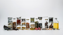 Assortments Of Spices. Row Of ...