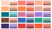 A Set Of Colors And Shades In ...