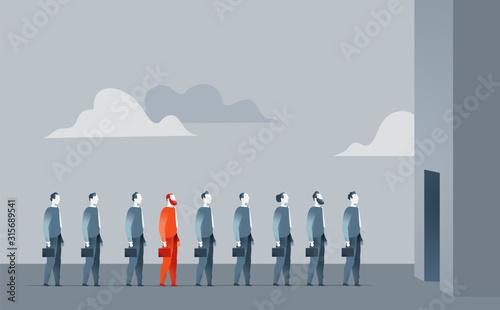 Forza vendita, reclutamento, uomini d'affari - illustrazione vettoriale Wallpaper Mural