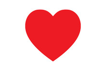 Red Heart Shape Love Icon For ...