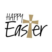 Christian Happy Easter Cross V...