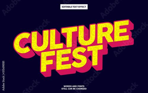 Culture style editable text effect Tapéta, Fotótapéta