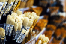 Group Of Artistic Paintbrushes...