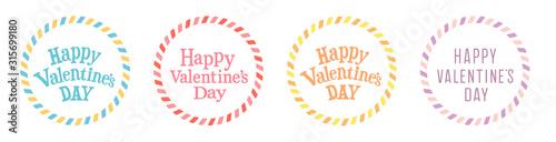Foto バレンタイン素材 フレームデザイン チョコレートモチーフ カラフル POP