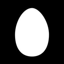 Vector Egg Shape Silhouette Is...