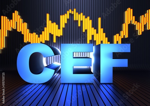 Photo CEF acronym (closed-ended fund)