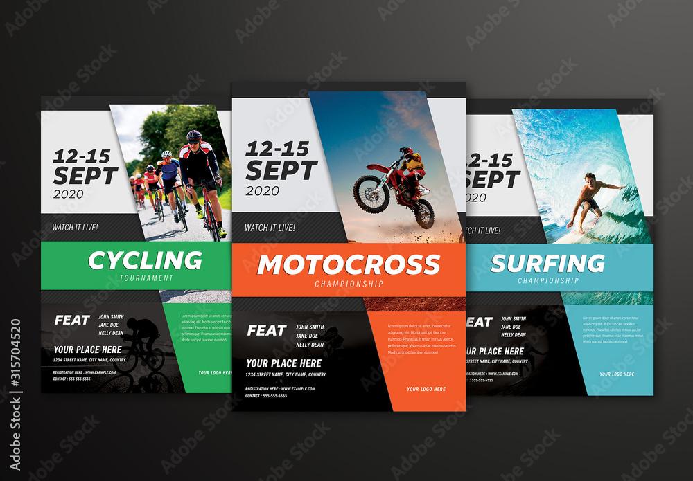 Fototapeta Sports Event Flyer Layout