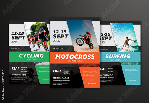 Fototapeta Sports Event Flyer Layout obraz