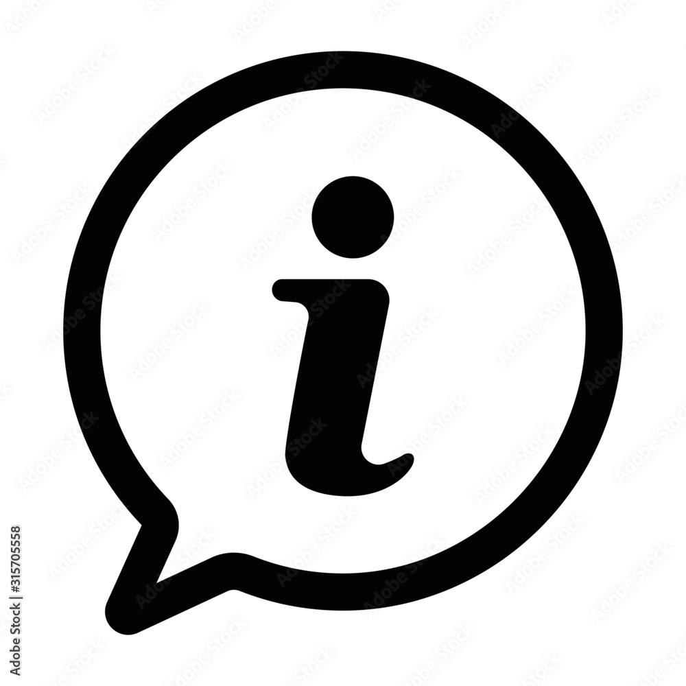 Fototapeta Information icon.information sign icon