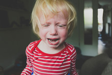 Portrait Of Crying Toddler Girl