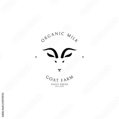 Goat milk. Dairy farm. Logo template Poster Mural XXL