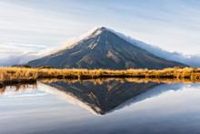 View Of Mount Taranaki Volcano...