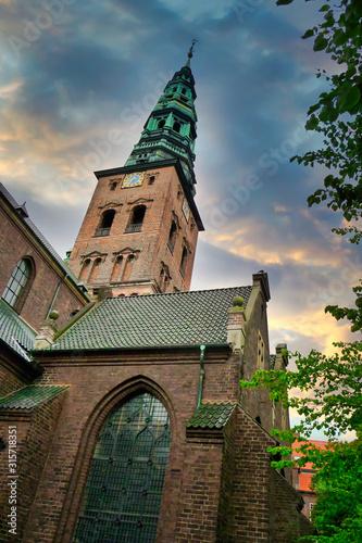 old church in copenhagen denmark Canvas Print