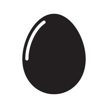 Egg Icon Vector Symbol Design