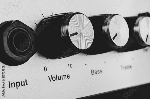 Contros of an amplifier Canvas Print