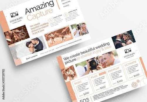 Fototapeta Flyer Layout with Peach Accents obraz