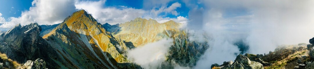 panoramic mountain view in tatra mountains, solisko