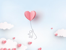 Pink Heart Flying Balloon With...