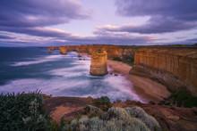 Twelve Apostles At Sunrise, Great Ocean Road In Victoria, Australia