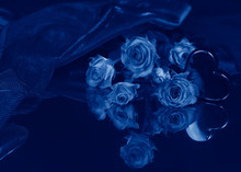 A Bouquet Of Roses And An Arti...