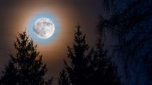 Full Moon Rainbow Corona. Moon...