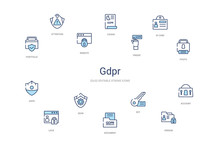 Gdpr Concept 14 Colorful Outli...