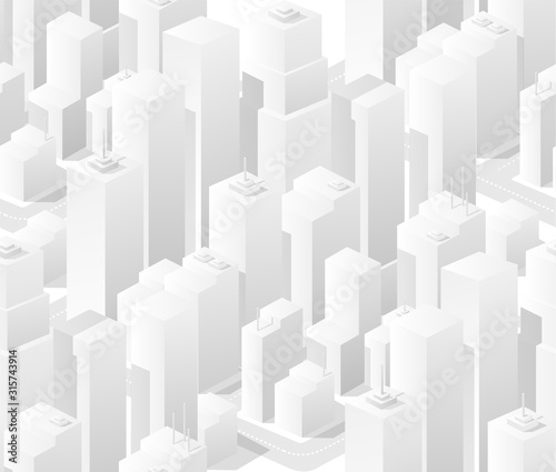 Seamless background city urban cityscape