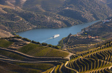 Cruise Ship In Douro River And...