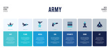 Web Banner Design With Army Concept Elements.