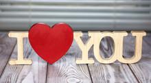 Declaration Of Love. Wooden In...