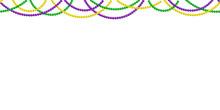 Seamless Horizontal Pattern Beautiful Beads