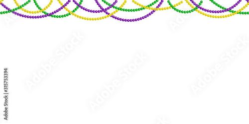 Seamless horizontal pattern beautiful beads Canvas Print