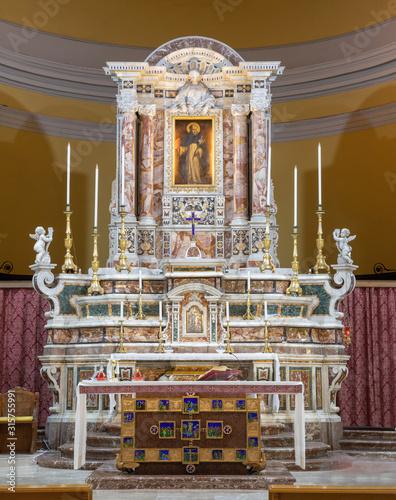 CATANIA, ITALY - APRIL 7, 2018: The baroque altar of church Santuario della Madonna del Carmine Wallpaper Mural